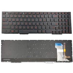 English Laptop Replacement Keyboard for Asus Series GL753 GL753V GL753VE FX53VD FX753VD FZ53V ZX73 FX553VD (Backlit) US