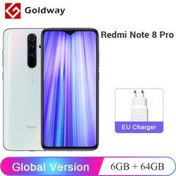 Versão global xiaomi redmi nota 8 pro 6gb ram 64gb rom do telefone móvel 64mp quad câmera helio g90t octa núcleo 4500mah bateria nfc
