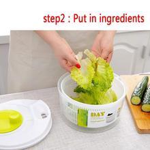 Сушилка для овощей для салата Подарочная корзинка для фруктов фруктового отмыть корзина для хранения, для стиральной машины сушильная машина для использования на кухне, инструменты
