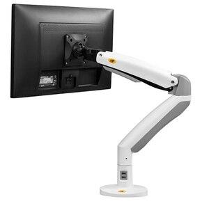 Image 5 - NB F100A ガススプリングアーム 22 35 インチ画面モニターホルダー 360 回転チルト、デスクトップモニターはアーム 2 つの Usb ポート