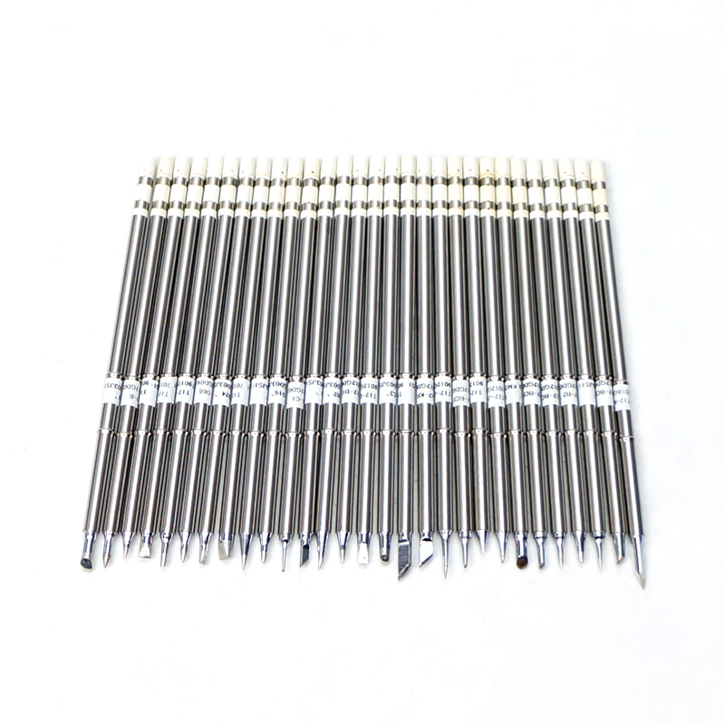 1PCS Soldering Tip Soldering Iron Solder Desoldering Tips T12 Type Welding Tools For SMD SMT Rework Station