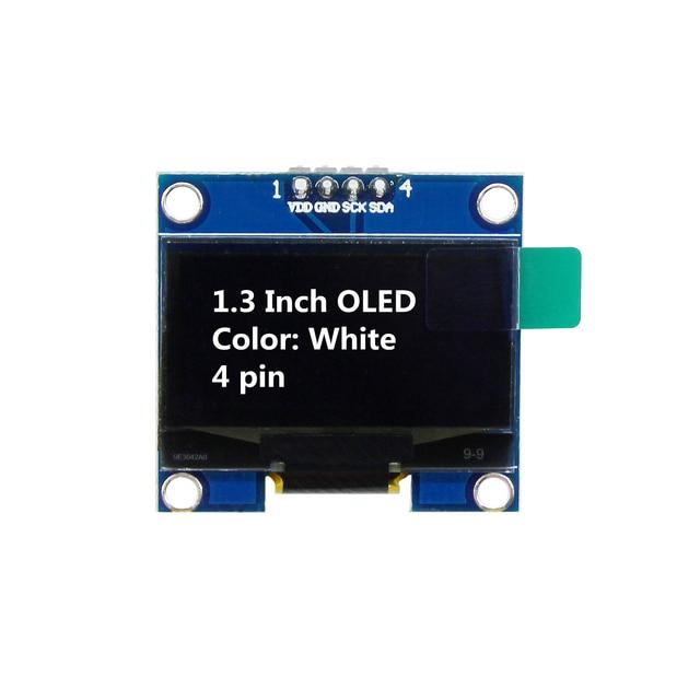 1.3 Inch OLED Module White Color 128X64 OLED LCD LED Display Module 1.3 IIC I2C SPI Communicate for arduino Diy Kit 4