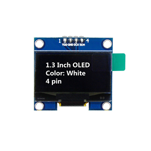 Image 5 - 1.3 بوصة OLED وحدة اللون الأبيض 128X64 OLED شاشة LCD LED وحدة 1.3 IIC I2C SPI التواصل لاردوينو لتقوم بها بنفسك عدة