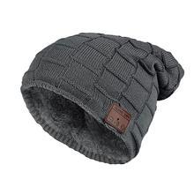 Зимняя теплая музыкальная шапка с Bluetooth, спортивные шапки с беспроводной гарнитурой, наушники с Bluetooth, умная шапка, шапки с микрофоном и дина...