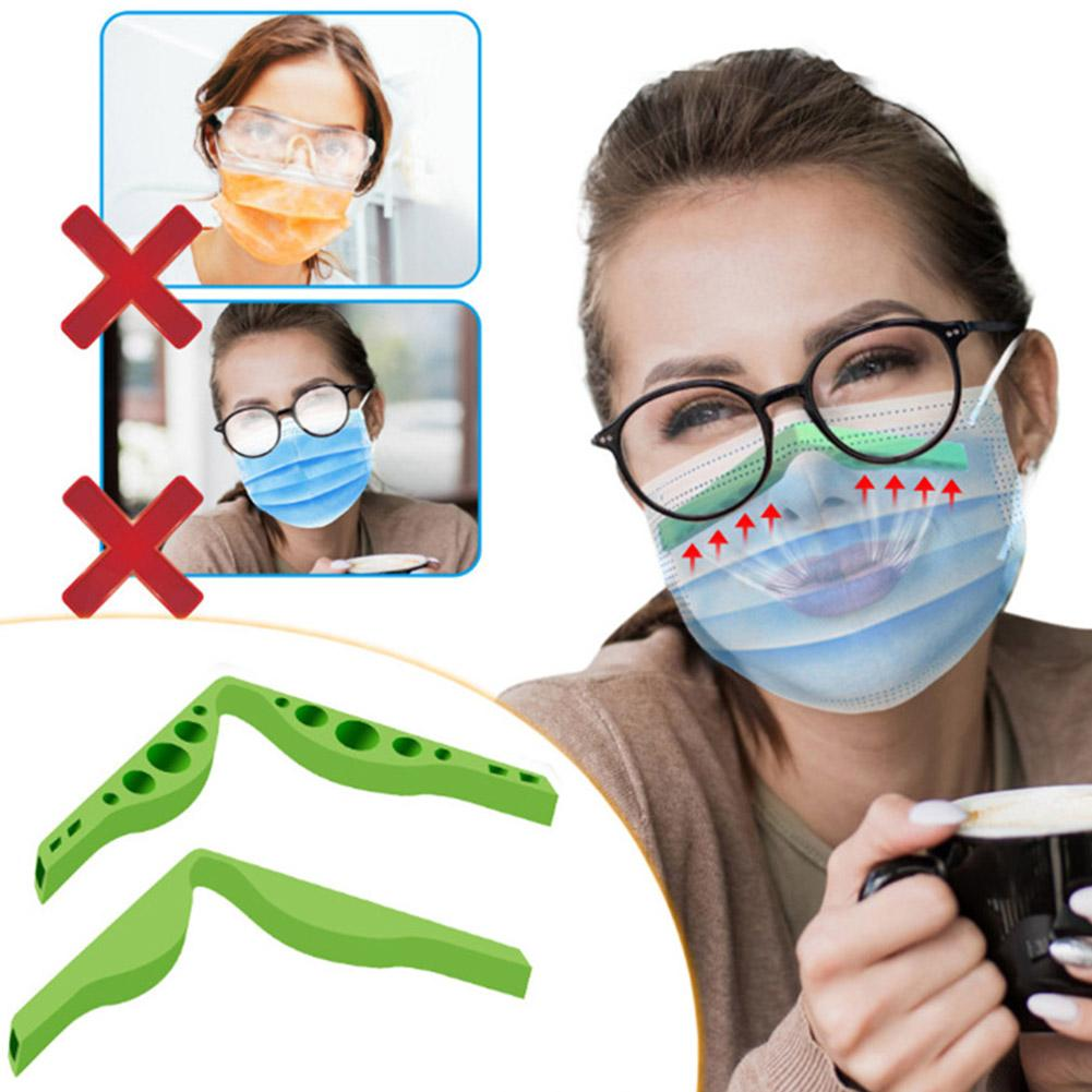 8Pcs Natural Rubber Anti Fog Nose Bridge Pads Cushion For Mouth Face Cover Bracket Protection Strip(mixed Colors)