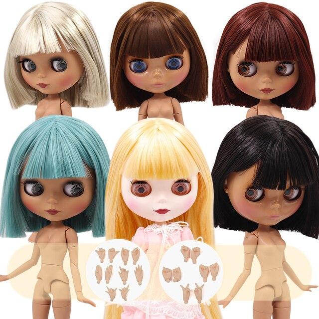 קפוא DBS Blyth הבובה No.2 לבן ושחור עור משותף גוף שמנוני ישר שיער 1/6 BJD מיוחד מחיר צעצוע מתנה