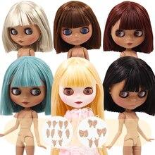 ICY DBS blythe doll No.2 pelle bianca e nera corpo articolato capelli lisci oleosi 1/6 BJD prezzo speciale regalo giocattolo