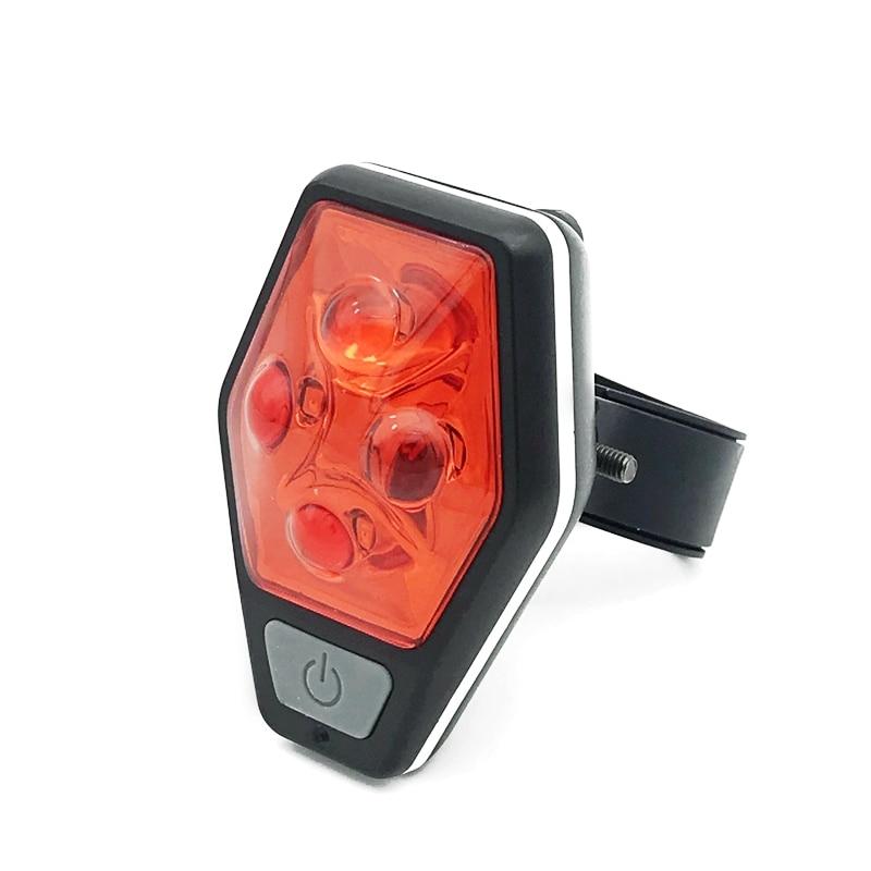 Mingray LED Bicycle Light AAA 4 Red Glow Bike Rear Light Outdoor Bag Clip Warning Light Waterproof Road Emergency Lantern
