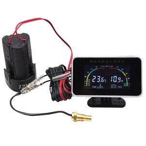 Image 5 - 12V/24V Car LCD Water Temperature Meter Thermometer Voltmeter Gauge 2 in 1 Temp & Voltage Meter 10mm Water Temp Sensor motor