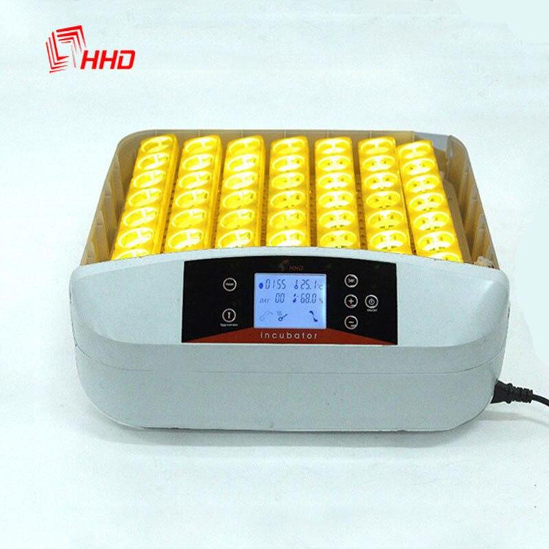 Горячая Распродажа инкубатор полностью автоматическая Управление 56 инкубатор для яиц светодиодный Экран Яйцо Тернер утка перепелиное яйц...