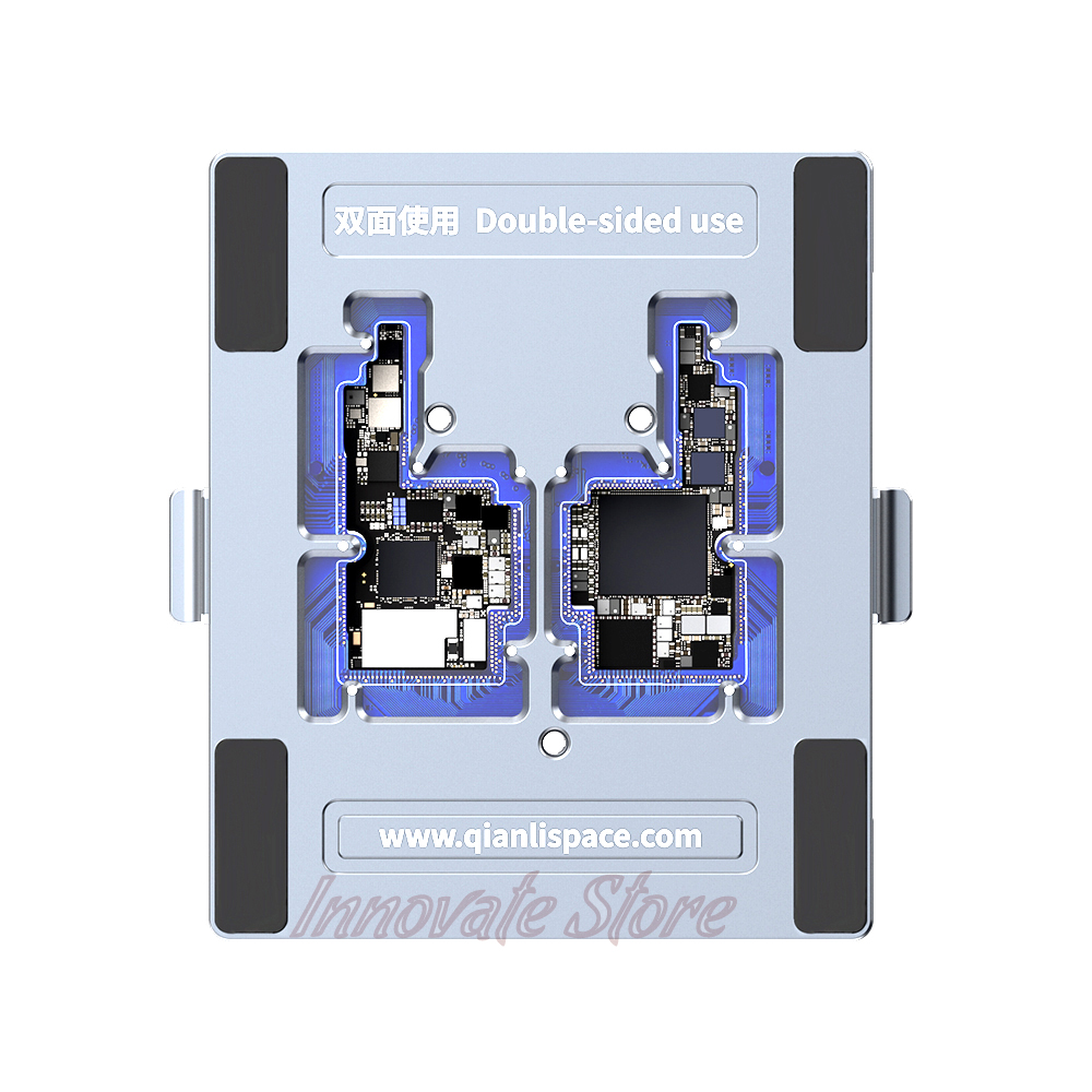 Купить с кэшбэком QIANLI motherboard layered double-sided test stand iPhone X Apple phone motherboard repair test fixture For iPhone X Motherboard
