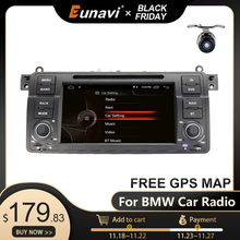 Eunavi 1 din 안 드 로이드 10.0 자동차 DVD 플레이어 BMW E46 M3 로버 3 시리즈 7 인치 라디오 스테레오 gps 네비게이션 헤드 유닛 wifi dsp usb