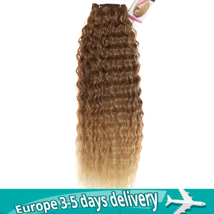 "MAGIC Deep Curly Synthetic Hair Weave Deep Wave Hair Bundles 28""30""32""Inches Ombre Color Two Tone Curly Hair extension 120g(China)"