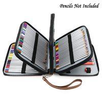 새로운 pu 대용량 연필 보관 가방 컬러 연필 가방 160 컬러 아트 페인팅 펜 커튼 휴대가 편리