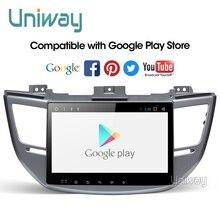 Uniway AXTS1071 2G+ 3 2G android 9,0 автомобильный dvd для hyundai Tucson/IX35 мультимедиа автомобильный Радио gps навигация