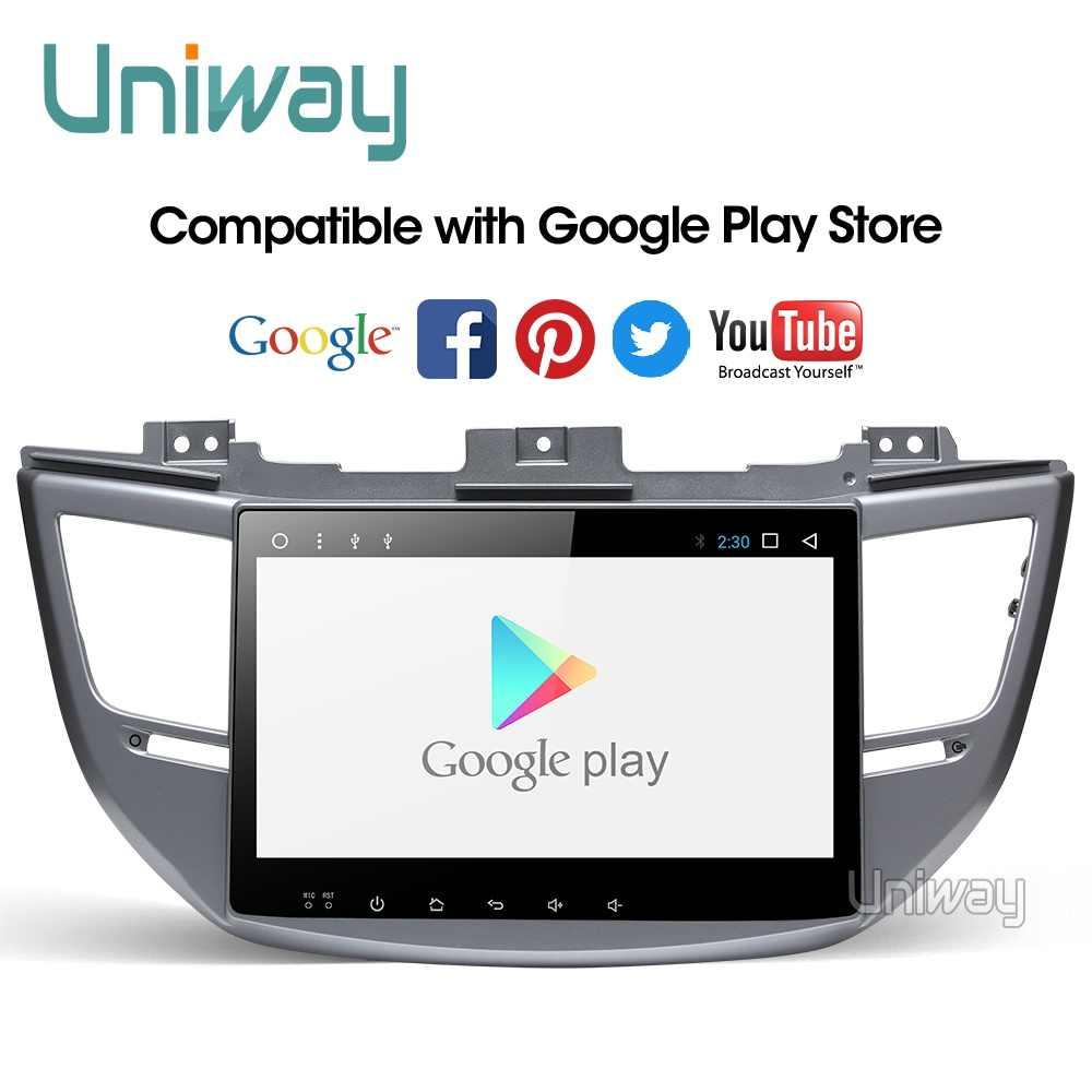 Uniway AXTS1071 2G + 3 2G android 9,0 dvd del coche para Hyundai tufson/IX35 2016 2017 radio multimedia del coche navegación gps