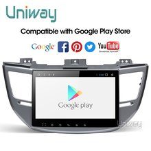 Uniway AXTS1071 2G + 32G android 9.0 dvd dell'automobile per Hyundai Tucson/IX35 2016 2017 multimedia car radio di navigazione gps(China)