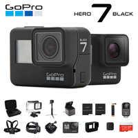 Caméra d'action GoPro originale HERO 7 noir 4K 60fps 1080P 240fps vidéo Go Pro Sport cam 12MP Photo wifi Live Streami Hyper lisse