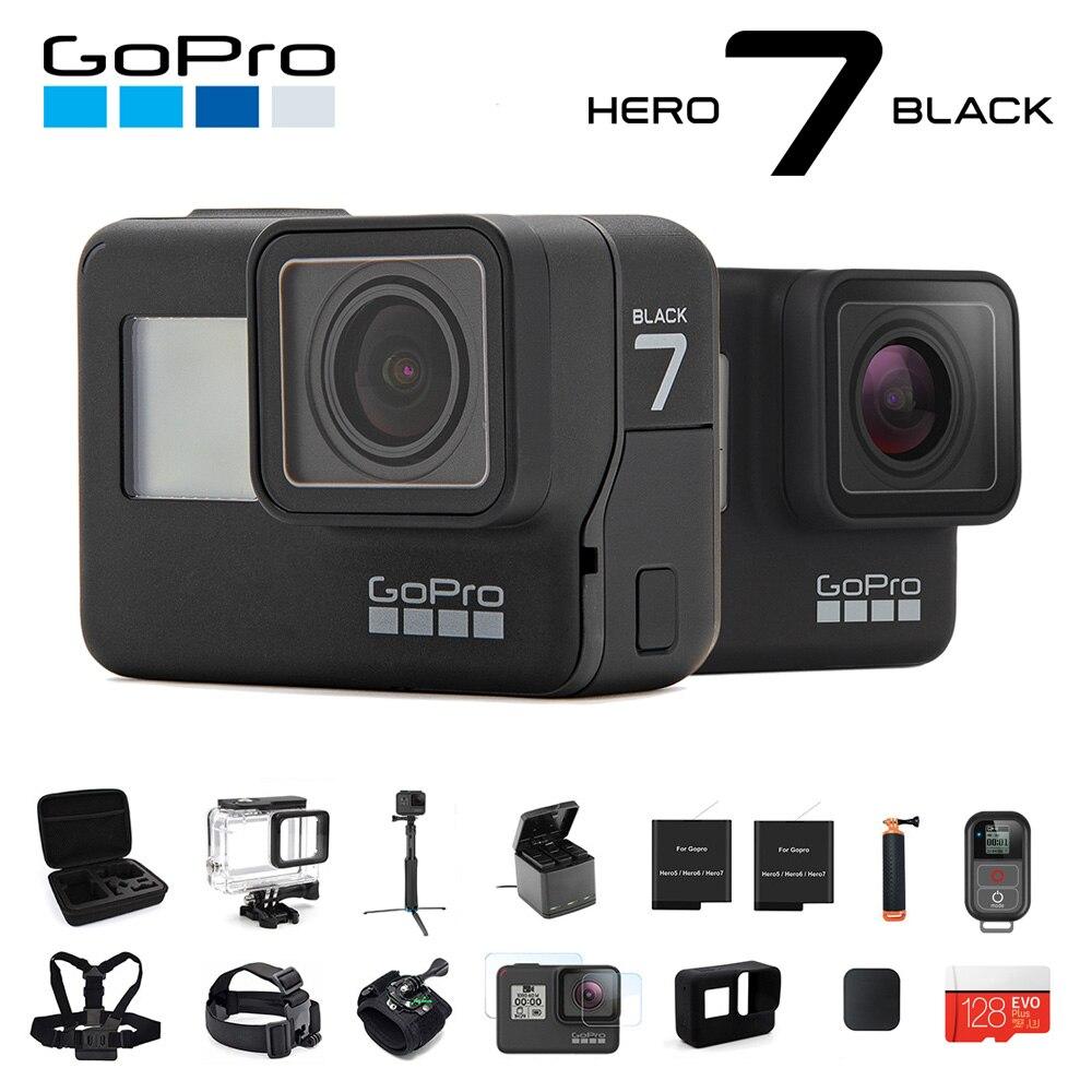 Originale GoPro Action Camera HERO 7 Nero 4K 60fps 1080P 240fps video Go Pro Sport cam 12MP Foto wifi Live Streami Hyper Liscia