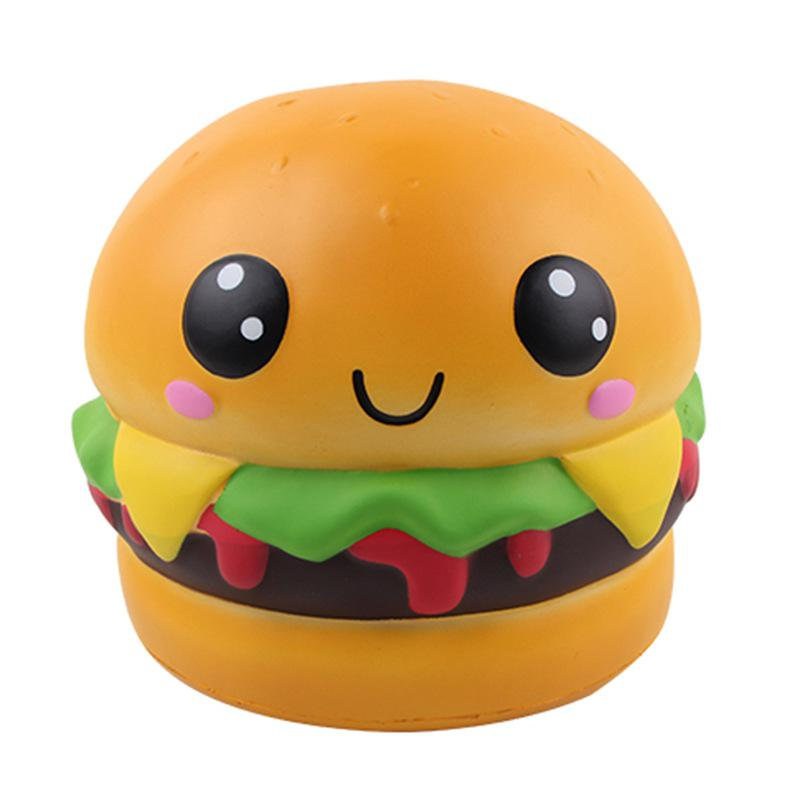 22cm Large Squishy Toy Slow Rebound Big Burger PU Decompression Toy