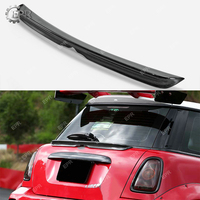 Carbon Wing Lip For R56 Mini Cooper S LB Carbon Fiber Rear Middle Spoiler (3 Door Hatch Only) Body Kit Tuning Trim For Mini R56