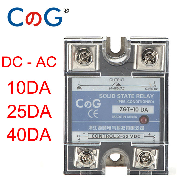 sourcing map ASH-25DA 3-32VDC to 480VAC 25A Single Phase Solid State DC to AC Relay Authorized