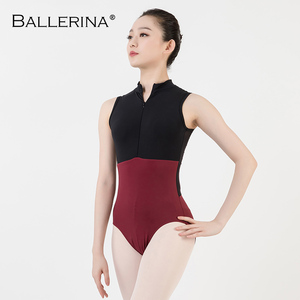 Image 3 - ballet dance Practice black mesh leotard women gymnastics Turtleneck Sleeveless Leotard Ballerina 5681