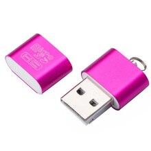 Interfaz USB 2,0 de alta velocidad, Micro SD TF T Flash, adaptador de lector de tarjeta de memoria, Mini memoria portátil ligera, lector de tarjetas al por mayor