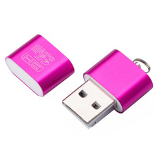 อินเทอร์เฟซ USB 2.0 ความเร็วสูง Micro SD TF การ์ดหน่วยความจำ T Flash Reader Adapter น้ำหนักเบาแบบพกพาขนาดเล็ก CardReaderWholesale