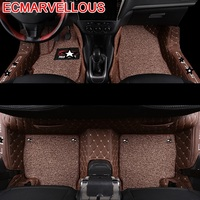 Accessory protector Decorative Floor Carpet Car Mats Styling Parts Upgraded Accessories Decoration Foot Pad FOR Peugeot 301