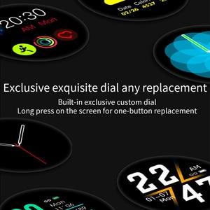 Image 5 - RUNDOING S4 kadın akıllı saat erkekler HD tam dokunmatik ekran kalp hızı kan basıncı oksijen monitörü moda spor smartwatch erkekler