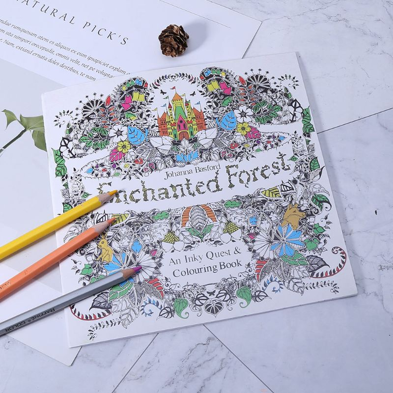 New An Inky Treasure Hunt And Coloring Book By Johanna Basford AXYF