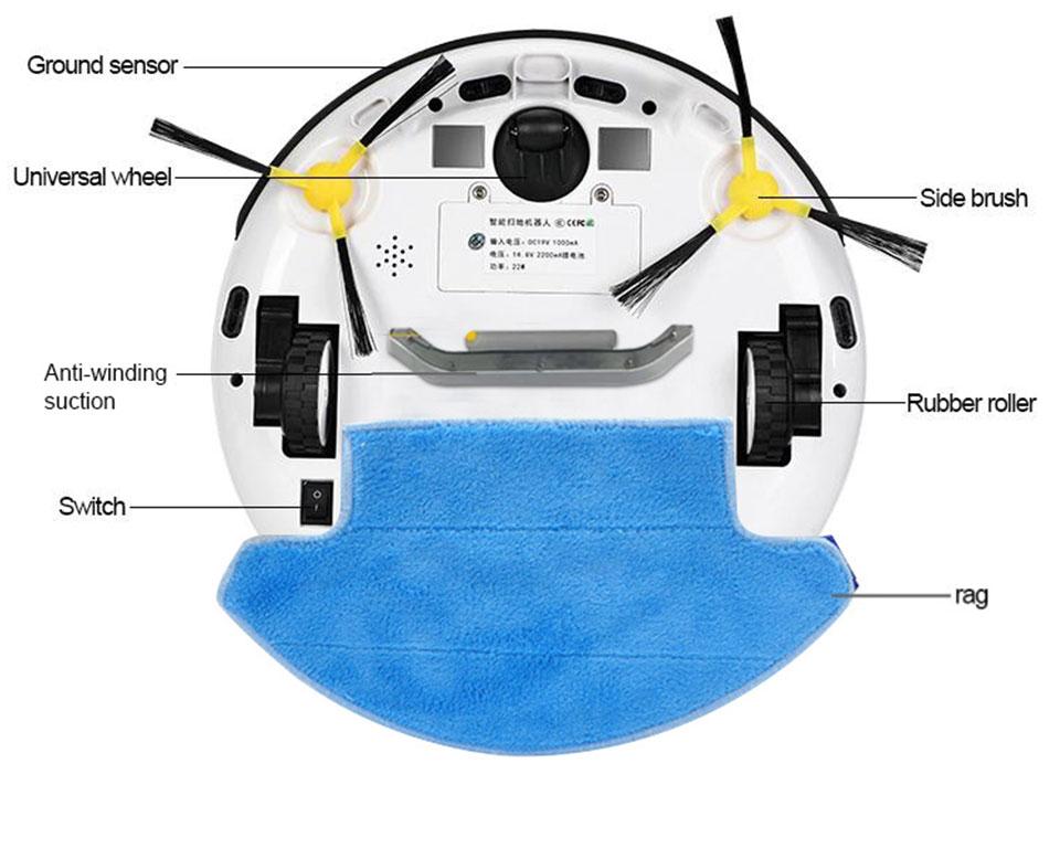 Robot inteligente PhoReal 9R aspirador succión húmedo y seco tanque grande Robot limpiador aspirador para el hogar - 6