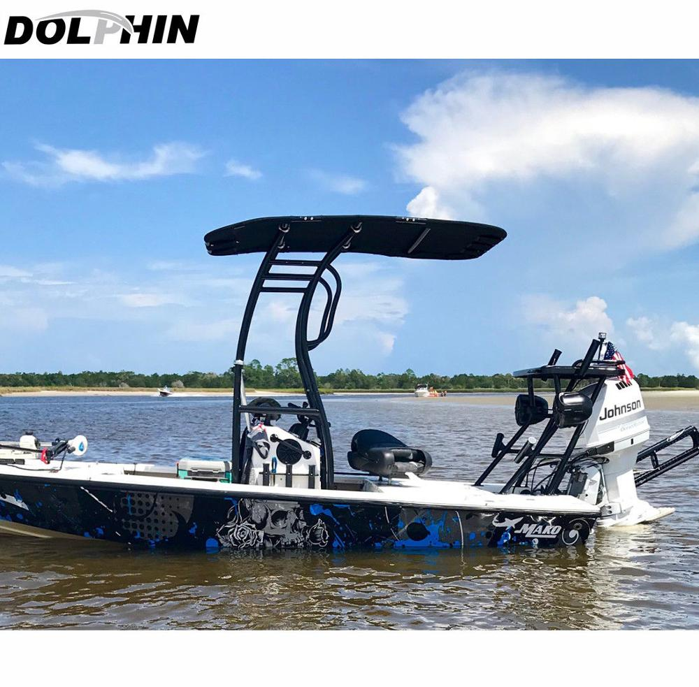 Dolphin Pro2 Boat T-TOP Black Coated/ Center Console Boat T TOP W/ Black Canopy