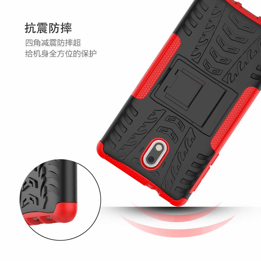 שריון טלפון מקרה עבור Nokia 1 2 3 5 6 8 3.1 6.1 7.1 5.1 6.1 7.1 2.1X7X6X5 בתוספת 2018 עמיד הלם קשיח גומי מגן מקרה