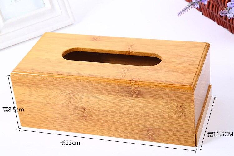 Винтажная бамбуковая коробка для салфеток с древесным углем, креативная коробка для хранения бумажных салфеток в рулоне, органайзер для салфеток в ванной комнате - Цвет: 23x11.5x8.5cm