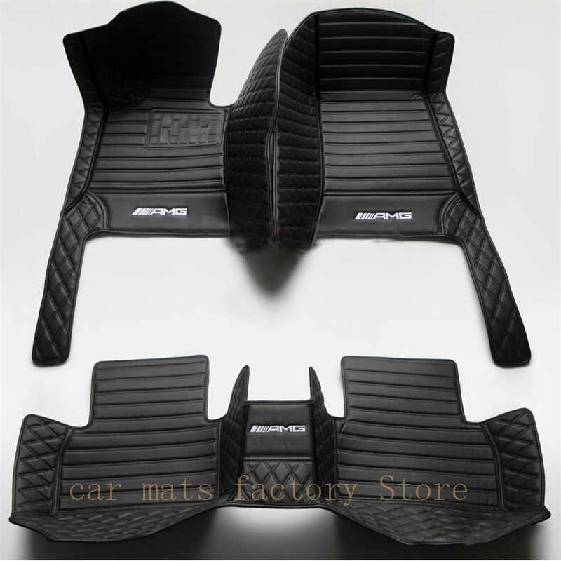 Due-color tappetino auto per Mercedes-Benz C-Class W202 W203 W204 W205 2005-2019 accessori auto styling tappeti per auto