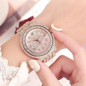 Womens Watch 2020 Top Selling Luxury Brand Gold Women Fashion Watches Men Big Diamond Bracelet Gift