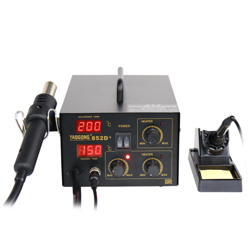 Yaogong 852D+ Hot Air Digital Bga Rework Station Smd Heater Soldering Iron