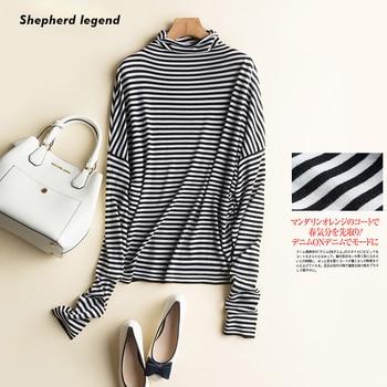 Shepherd Legend Spring Women's Clothing Pure Wool Tank Top Simplee  Apparel  Thin Clothes Women Vest Haut Stripe High Neck Coat
