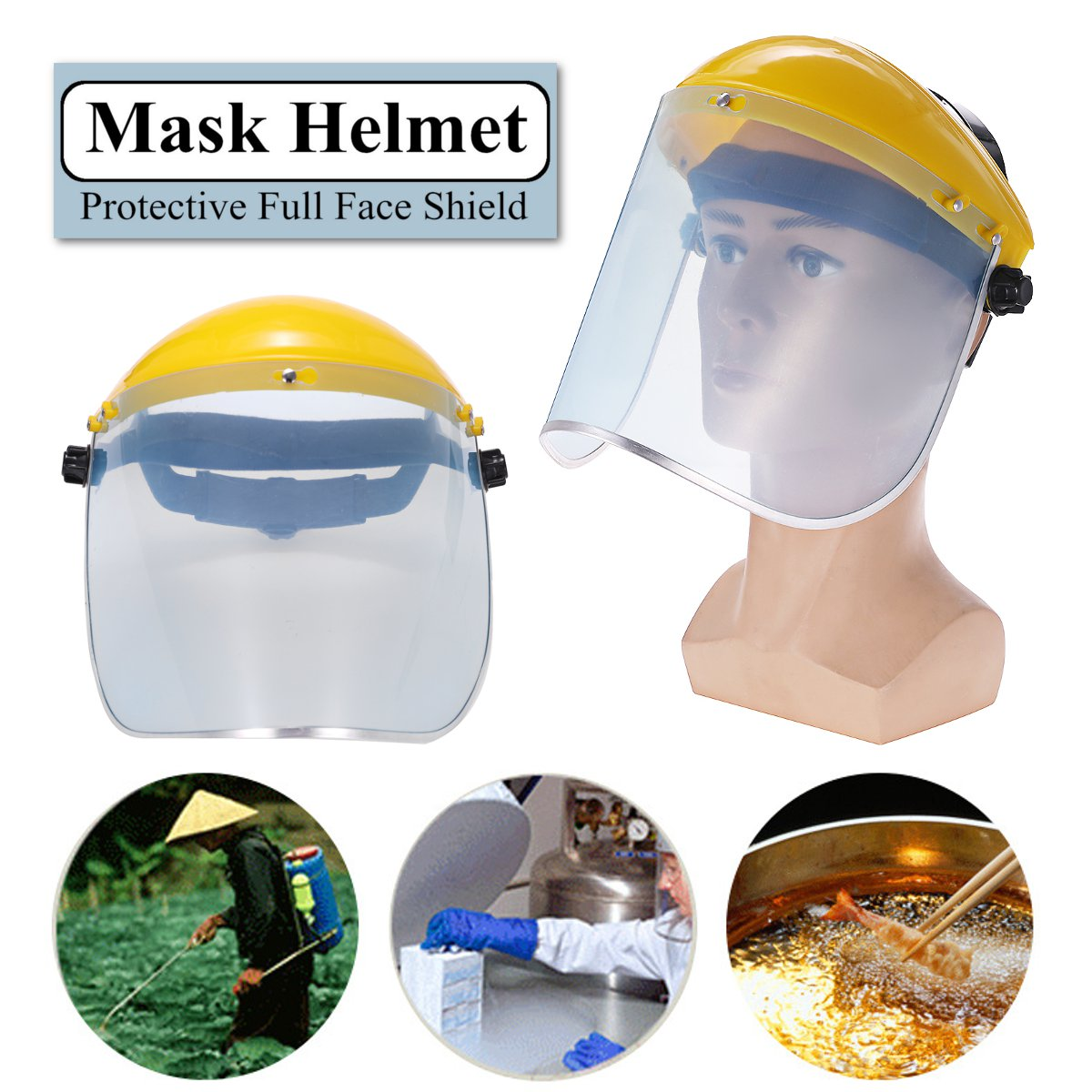 Protective Clear Face Cover and Transparent Face Helmet with Anti Splash Anti-UV and Shield Visor 1