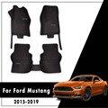 Автомобильные коврики для Ford Mustang 2015 2016 2017 2018 2019 2020 ковры противоскользящие кожаные коврики авто аксессуары для интерьера