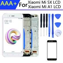 5.5インチpantallaためxiaomi mi a1ディスプレイ携帯電話ディスプレイフレームmi 5x液晶タッチスクリーンデジタイザ組立部品