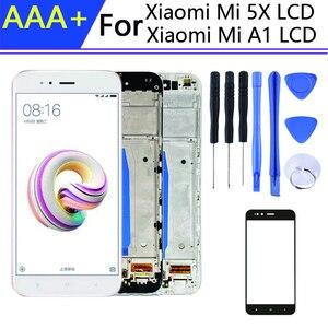 Image 1 - Cho 5.5 Inch Pantalla Xiaomi Mi A1 Màn Hình Hiển Thị Trong Điện Thoại Di Động Màn Hình LCD Có Khung Mi 5x Màn Hình Cảm Ứng LCD Bộ Số Hóa các Chi Tiết Lắp Ghép