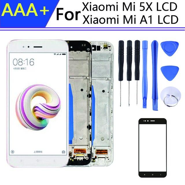 Cho 5.5 Inch Pantalla Xiaomi Mi A1 Màn Hình Hiển Thị Trong Điện Thoại Di Động Màn Hình LCD Có Khung Mi 5x Màn Hình Cảm Ứng LCD Bộ Số Hóa các Chi Tiết Lắp Ghép