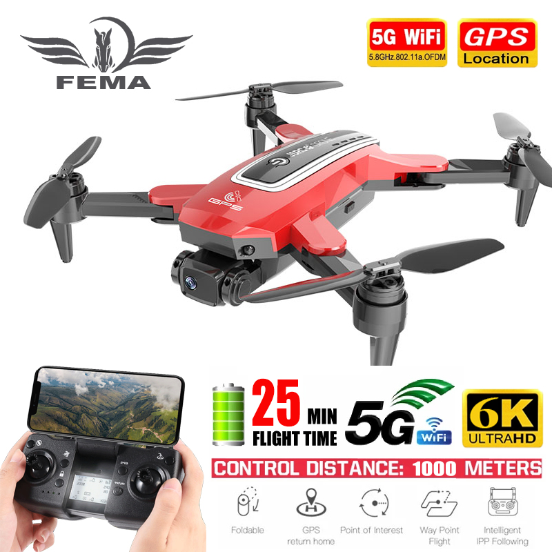 Permalink to FEMA S4 Camera Drone GPS 4K Professional pro 6K HD 5G FPV Long Distance Brushless RC Quadcopter Dron PK E520S SG108
