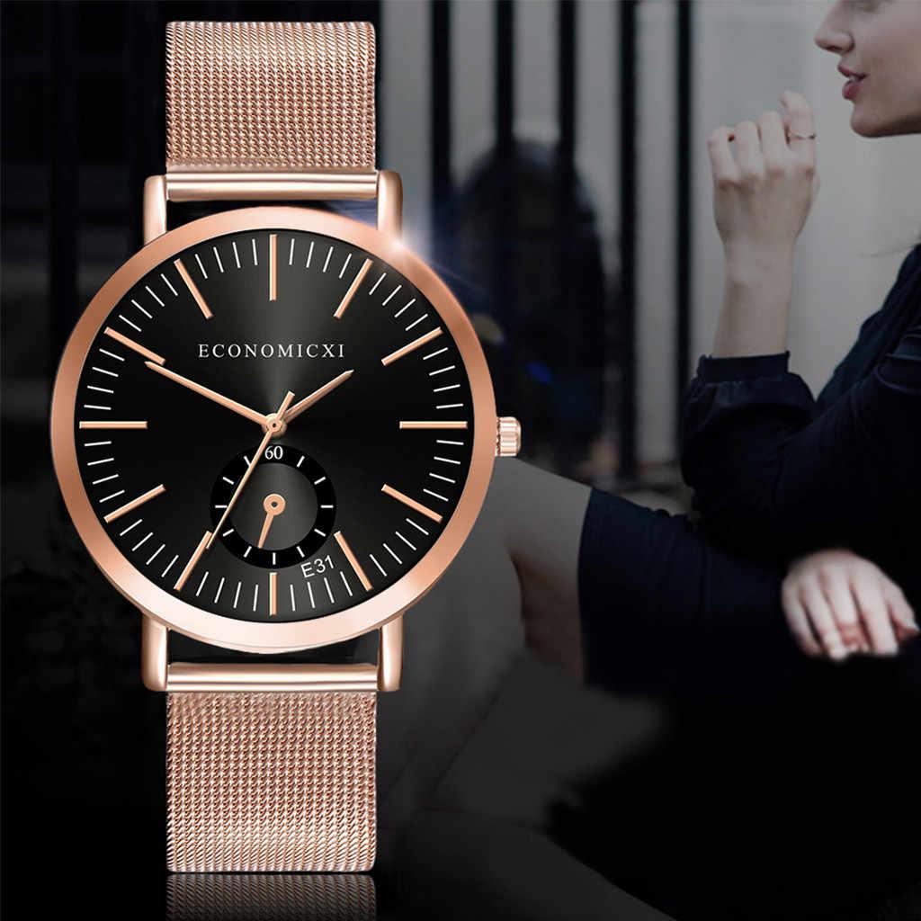 2020 di Lusso Della Vigilanza di Modo Delle Donne Zegarek Damski Quarzo Bayan Kol Saati Orologio da Polso Del Braccialetto Delle Signore di Vetro Blu Orologi Reloj Mujer