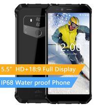 """هاتف ذكي Oukitel Wp1 Ip68 مقاوم للماء 4gb 64gb 5000mah Mtk6763 ثماني النواة 5.5 """"Hd + 18:9 شاشة لا سلكية ثلاثي مقاوم للشحن"""