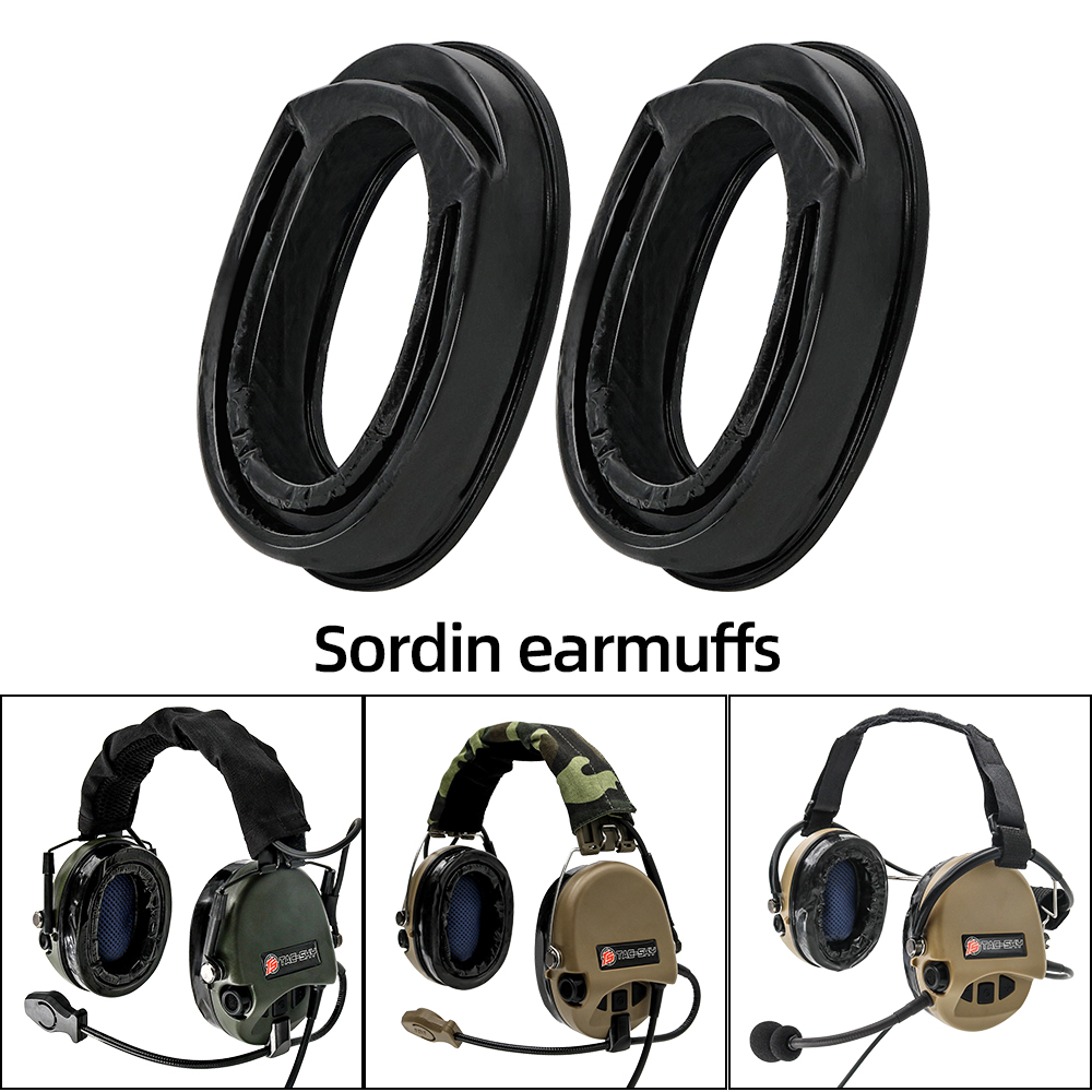 Sordin Tactics Headsets Pickup Noise Reduction Airsoft Headphones Comfortable Replacement Earmuffs Sightlines Gel Ear Pads