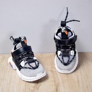 Image 4 - 2020 ילדים חדשים נעלי פעוט בנות ילד סניקרס תחרה עד עיצוב רשת לנשימה ילדי טניס אופנה קטן תינוק נעליים